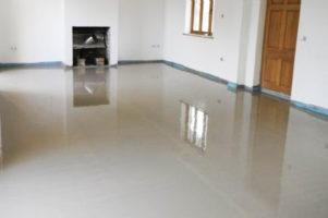 Anhydritová podlaha – Rodinný dům Žďár nad Sázavou