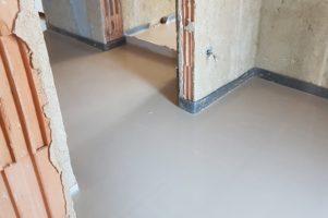 Anhydritová podlaha – Olší
